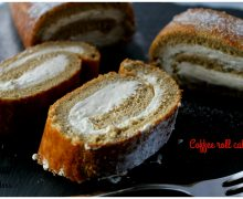 Coffee roll cake