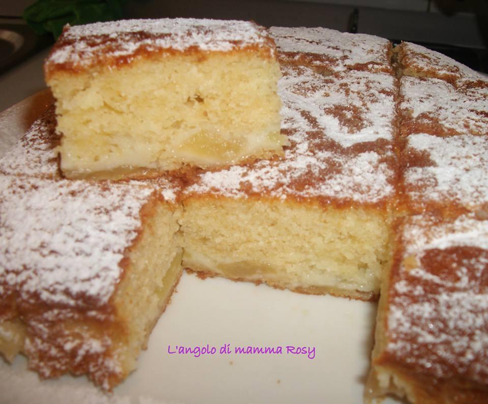 Quadrotti di torta con Mele e Yogurt