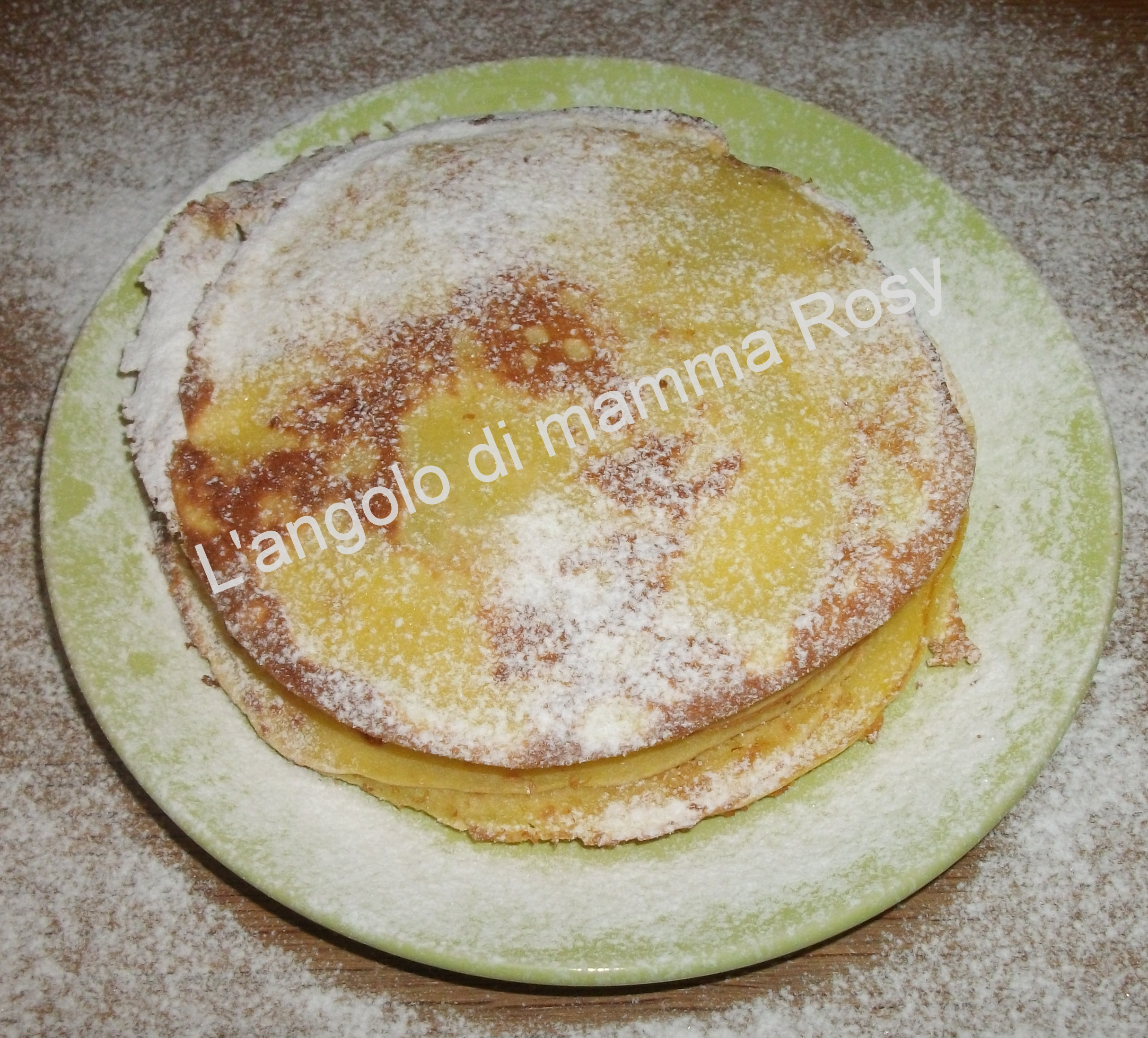 Crepes all'arancia impasto base