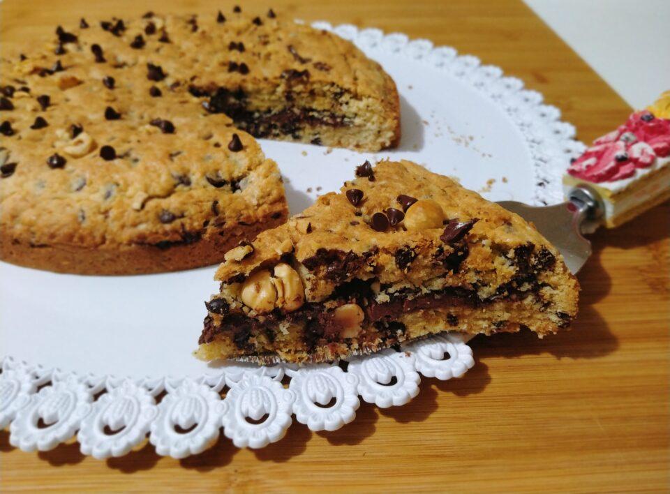 torta cookie alla nutella e nocciole