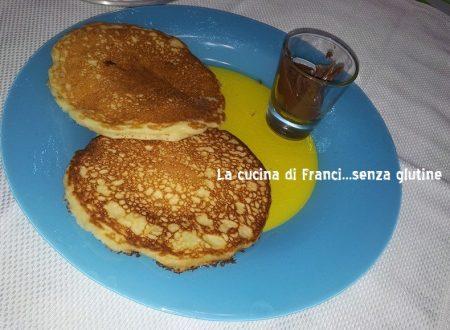 Pancakes ricetta veloce senza glutine  (in15 minuti preparati e mangiati)