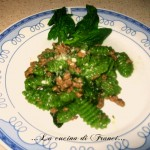 cavatelliverdisg con spinacini e carne trita