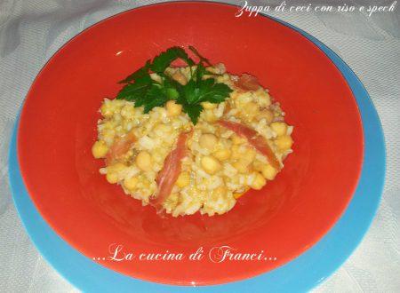 Zuppa di ceci con riso e speck