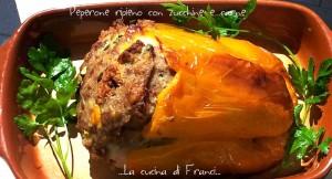 peperone ripieno con scamorza,zucchine e carne Gustoso ma senza glutine