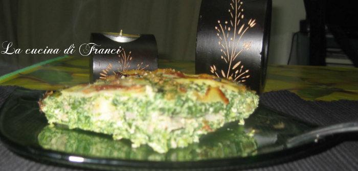Sformato di ricotta,spinaci,prosciutto e patate (senza glutine)