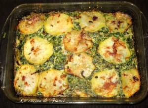 Sformato di ricotta,spinaci,prosciutto e patate UN PIATTO SAPORITO E SENZA GLUTINE