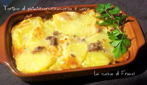 Tortino di patate,carne e scamorza