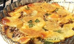 Torta di patate,carne e scamorza  senza uova senza glutine