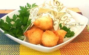 Zeppole vongole e gamberetti senza glutine