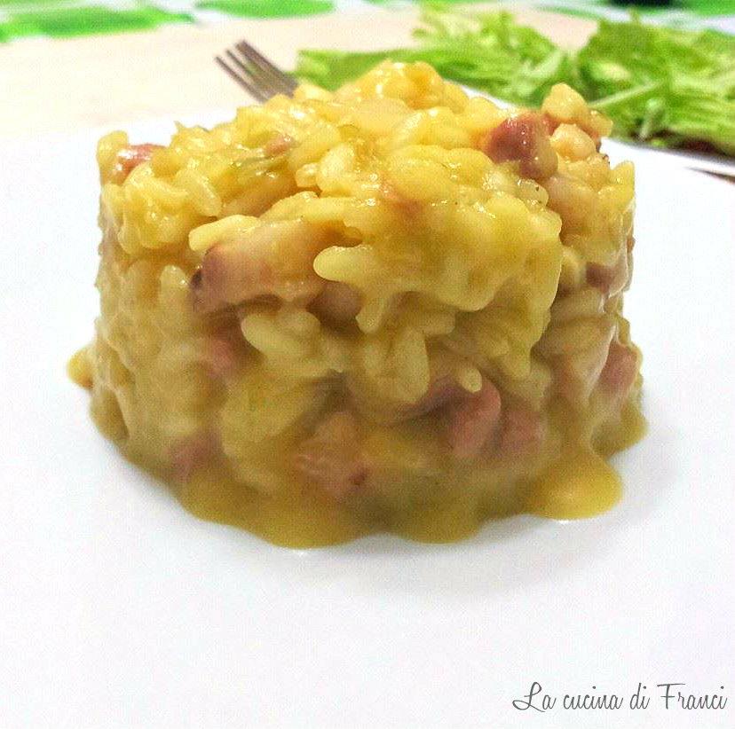 risotto verza pancetta  zafferano2