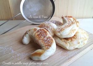 Cornetti in padella senza glutine senza uova