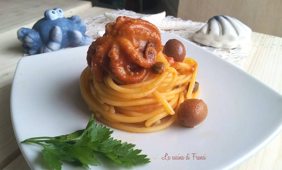 Spaghetti polipetti olive capperi senza glutine(1)