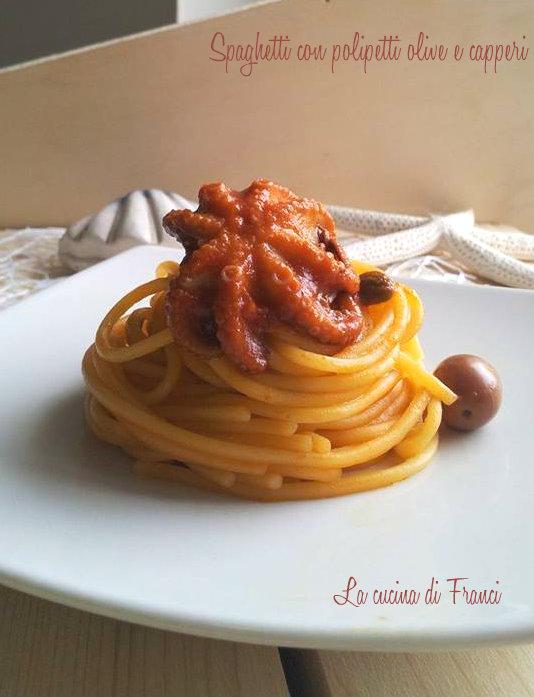 Spaghetti polipetti olive capperi senza glutine (5)