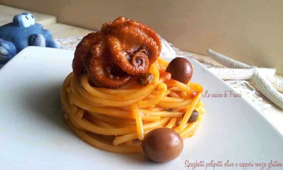 Spaghetti polipetti olive capperi senza glutine(6)