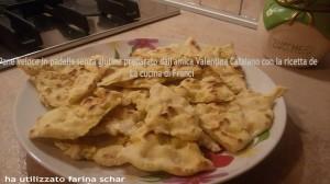 grazie alla nostra amica Valentina per la foto del suo pane veloce in padella senza glutine.Lei ha utilizzato farina Schar