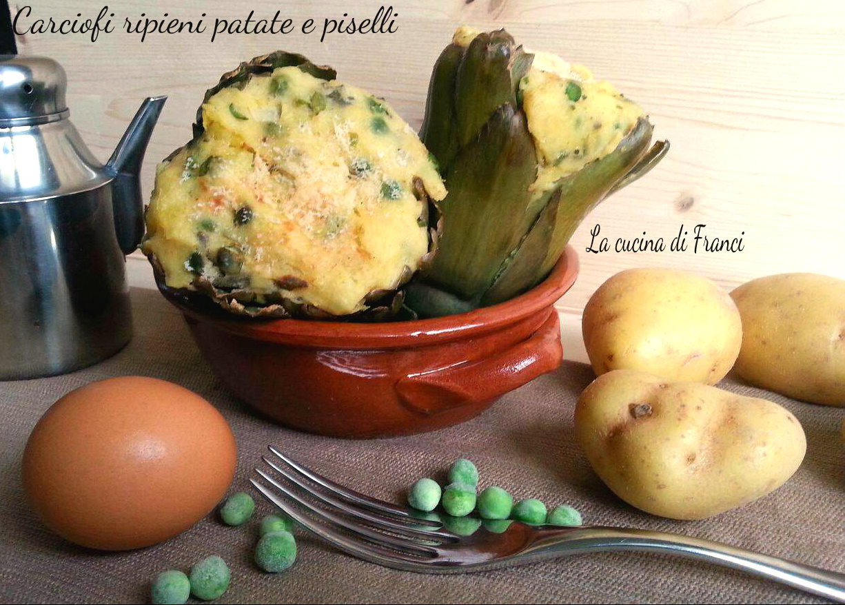 Carciofi ripieni patate e piselli Ricetta per S.Stefano