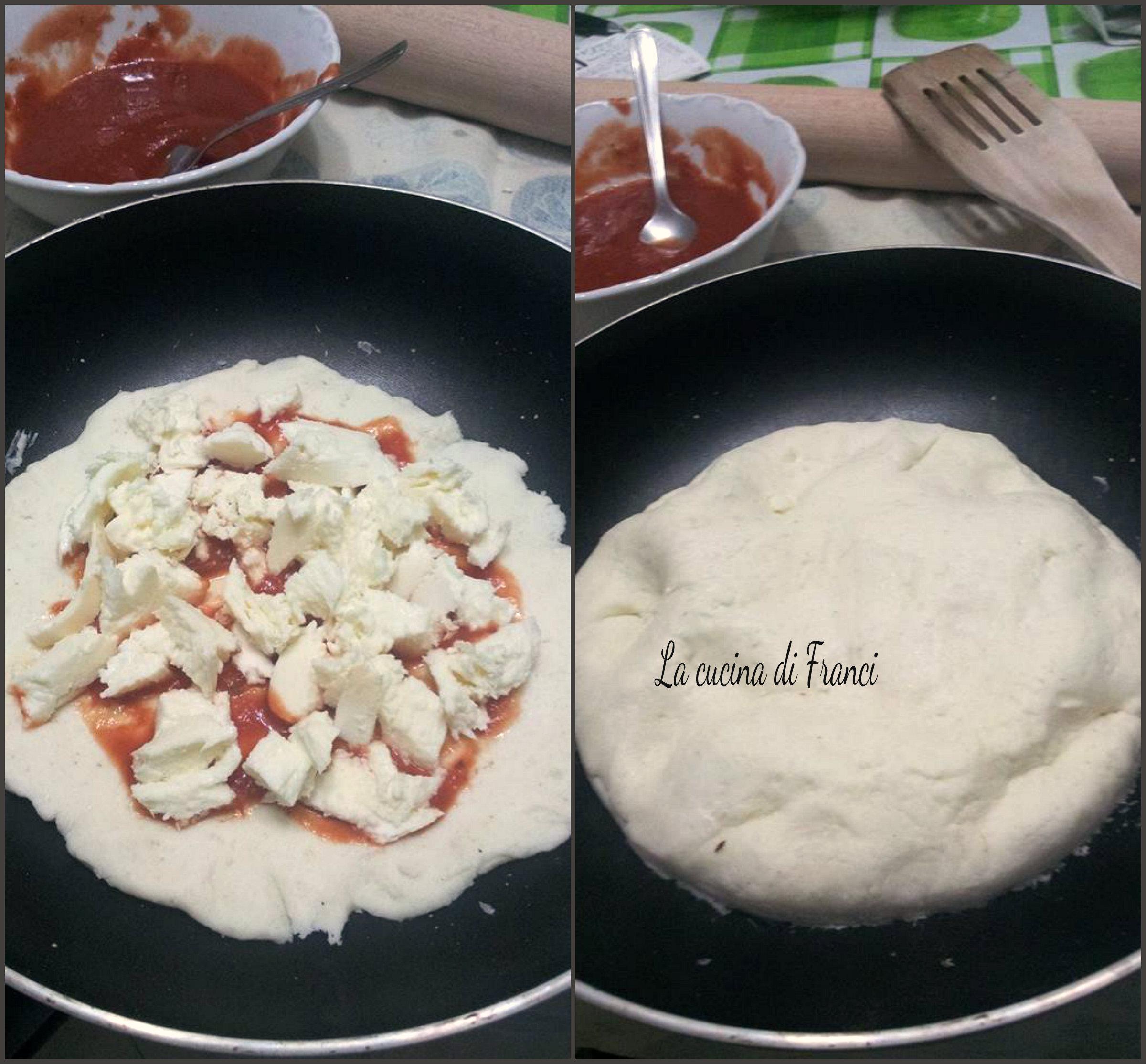 CollageFocaccia in padella  provola e pomodoro senza glutine