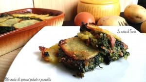 Sformato di spinaci patate e pancetta