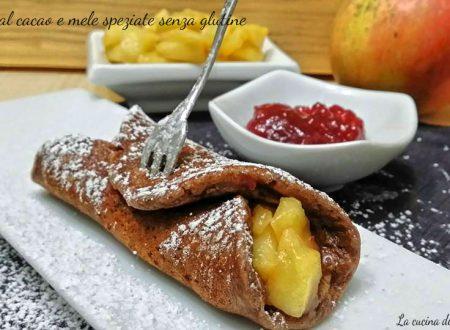 Pancake al cacao e mele speziate senza glutine