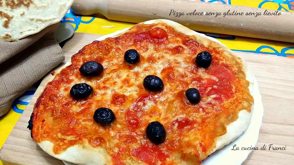 Pizza veloce senza glutine e senza lievito