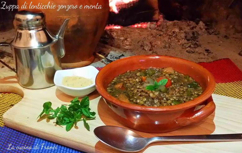 Zuppa di lenticchie zenzero e menta