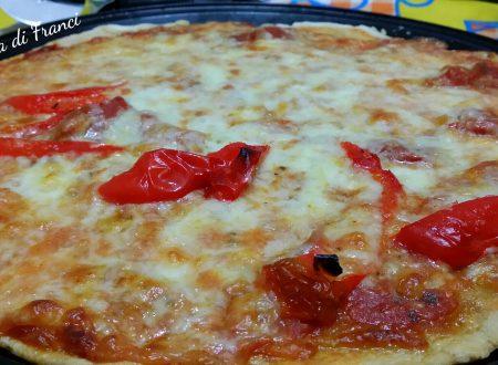 Pizza veloce senza lievito senza glutine