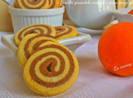 Biscotti girandole arancia e cacao senza glutine