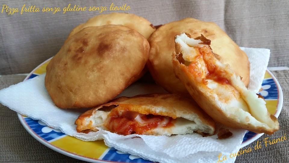 Pizza fritta senza glutine senza lievito