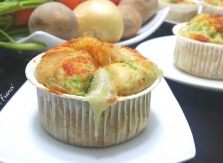 Muffin filanti alle verdure