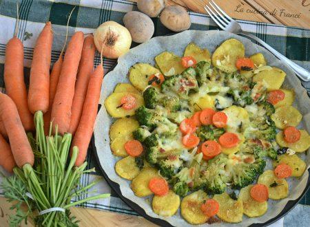 Verdure gratinate asiago e mozzarella