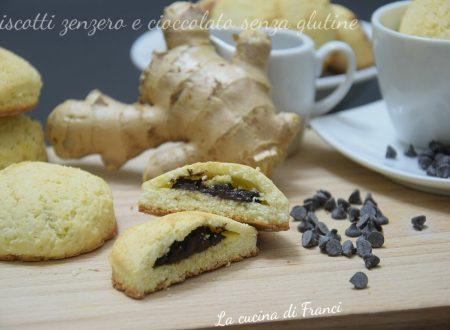 Biscotti allo zenzero ripieni di cioccolato