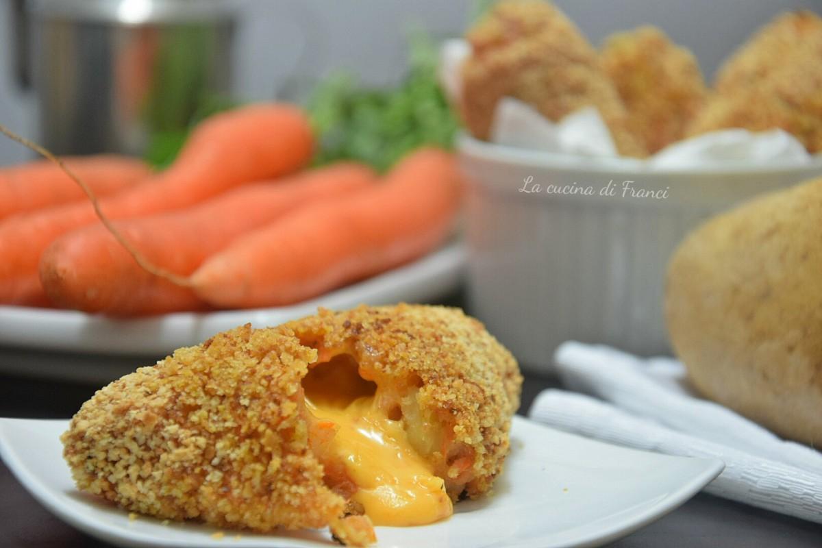 Crocchette patate e carote filanti 2