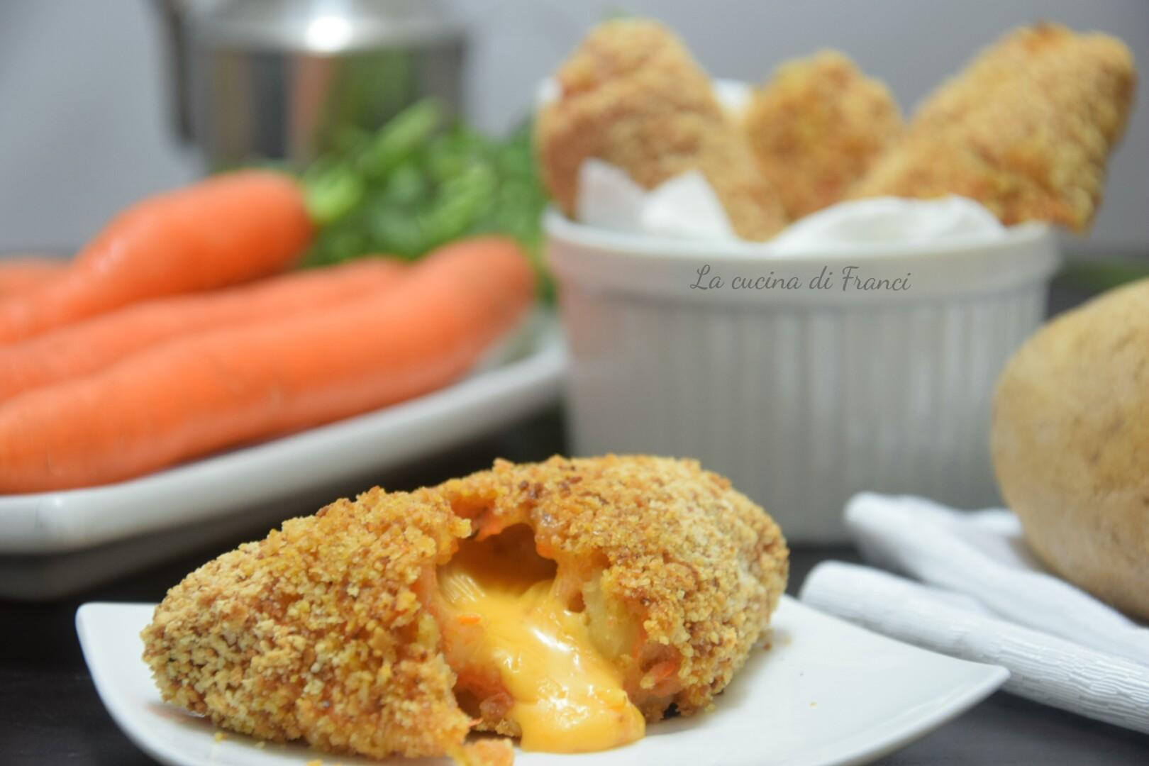 Crocchette patate e carote filanti 5
