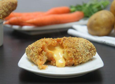 Crocchette patate e carote filanti