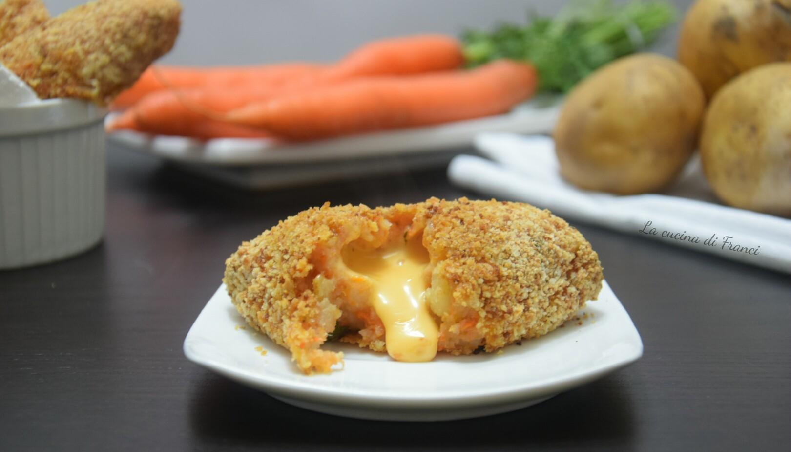 Crocchette patate e carote filanti 7