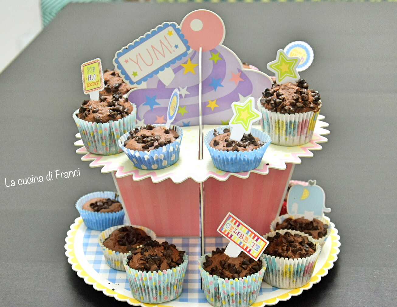 Muffin al cioccolato senza glutine e lattosio 2