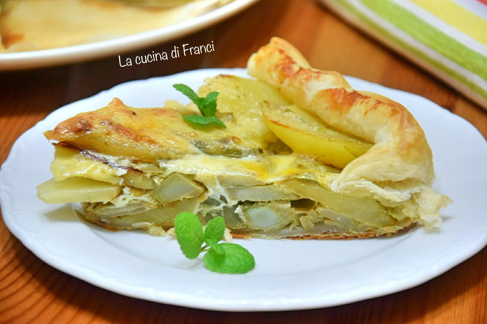 Torta rustica carciofi e patate 3