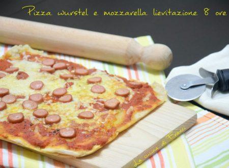 Pizza wurstel mozzarella lievitazione 8 ore