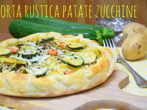 Torta rustica patate zucchine