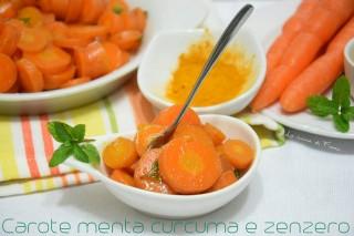 La ricetta della carote dimagranti con menta curcuma e zenzero!!!!!