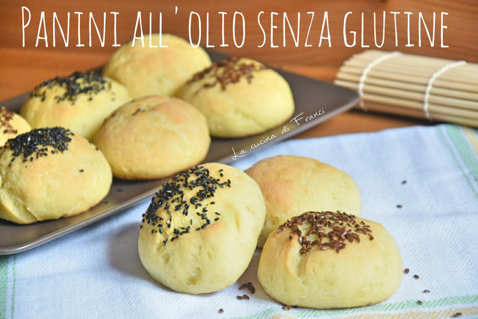 panini all'olio senza glutine con semi di sesamo e di lino