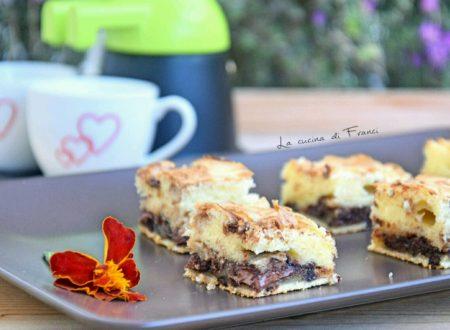 Brownies panna Nutella e cioccolato senza glutine senza lattosio