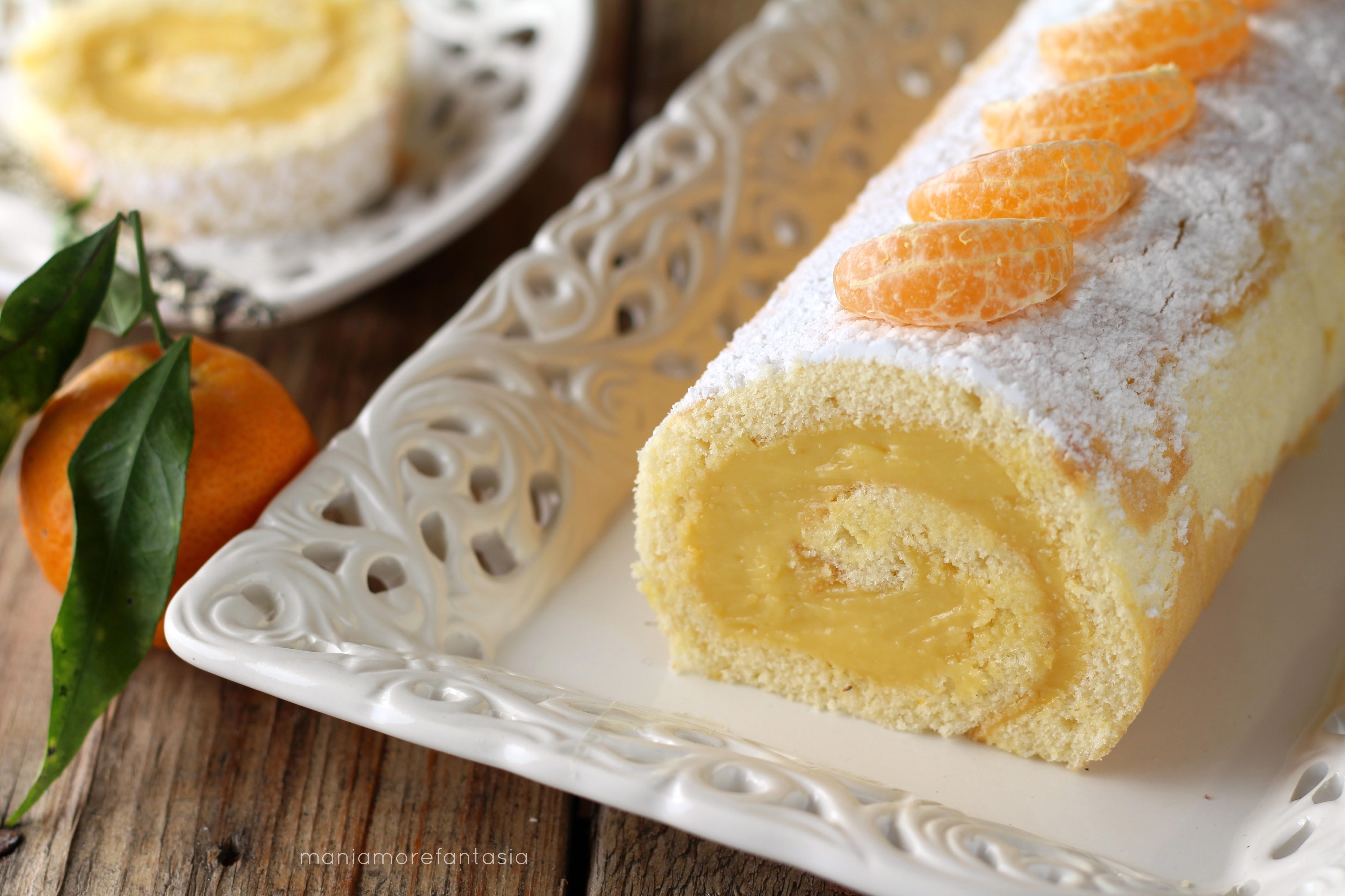 rotolo soffice con crema al mandarino