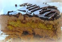 Torta pistacchio e mousse al cioccolato