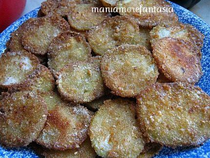 Chips di zucchine a cotoletta