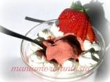 gelato di fragole senza gelatiera