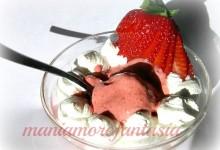 Gelato di fragole senza gelatiera…