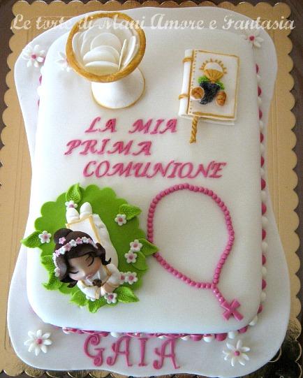 torta decorata prima comunione