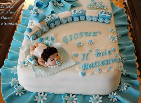 Torta decorata per un battesimo