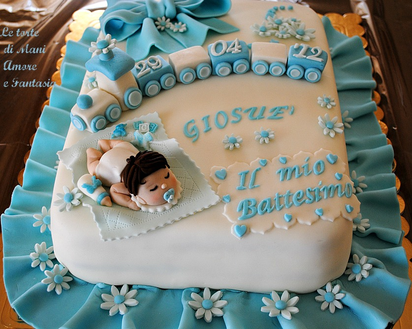 Torta decorata per un battesimo torte battesimo torte decorate pdz - Decorazioni per battesimo bimba ...